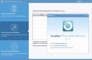 FonePaw iPhone Data Recovery 8.1 Crack + Registration Code Free