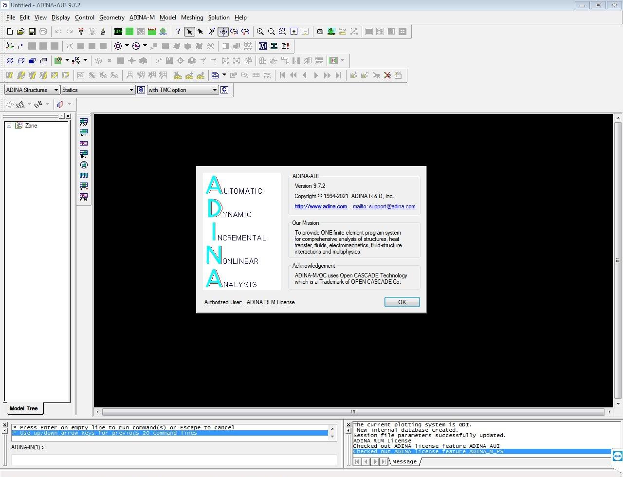 ADINA System 9.7.2 Crack-License Key Free