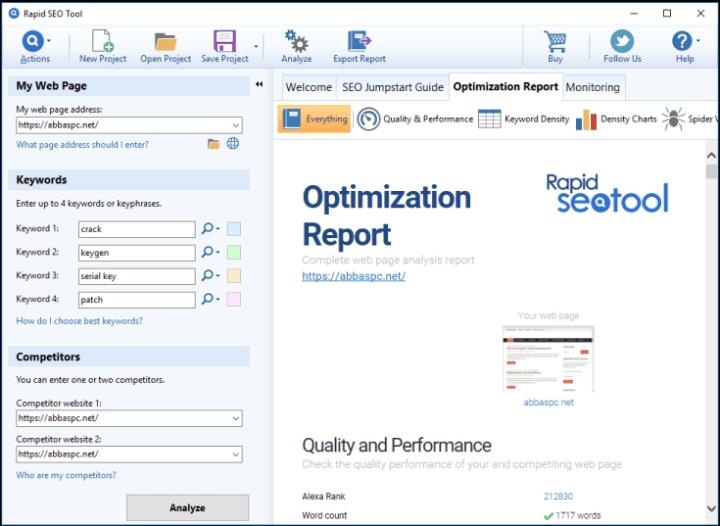 Rapid SEO Tool 2.11 Crack-License Key Free Download